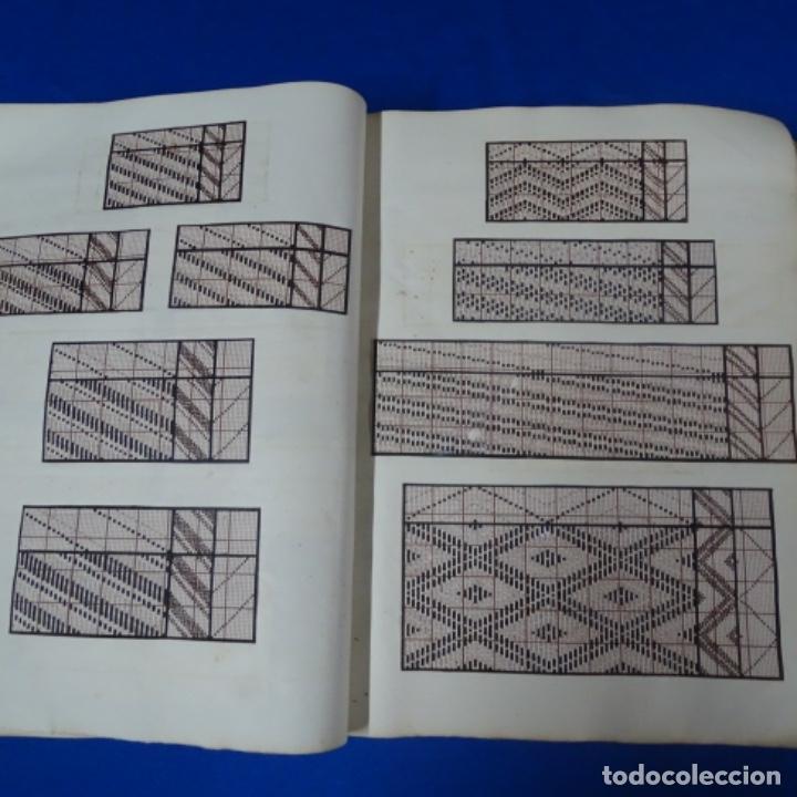 Manuscritos antiguos: Libro Manuscrito s.xix.teoria de los tejidos.obra excepcional de años de trabajo. - Foto 22 - 182331086