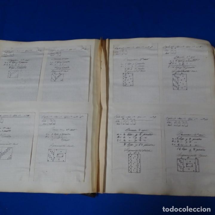 Manuscritos antiguos: Libro Manuscrito s.xix.teoria de los tejidos.obra excepcional de años de trabajo. - Foto 23 - 182331086