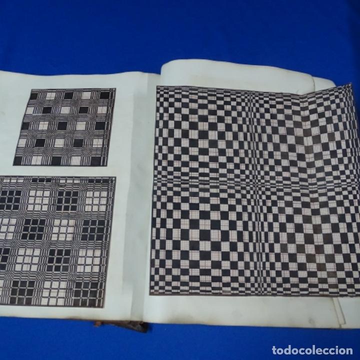 Manuscritos antiguos: Libro Manuscrito s.xix.teoria de los tejidos.obra excepcional de años de trabajo. - Foto 24 - 182331086