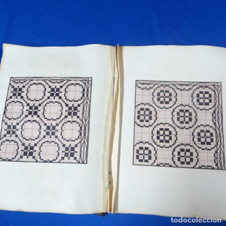 Manuscritos antiguos: Libro Manuscrito s.xix.teoria de los tejidos.obra excepcional de años de trabajo. - Foto 25 - 182331086
