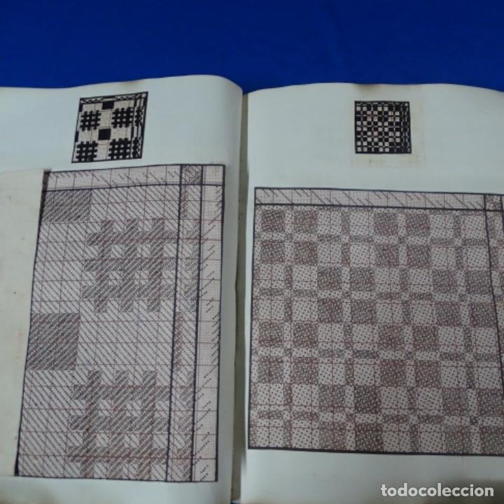 Manuscritos antiguos: Libro Manuscrito s.xix.teoria de los tejidos.obra excepcional de años de trabajo. - Foto 26 - 182331086