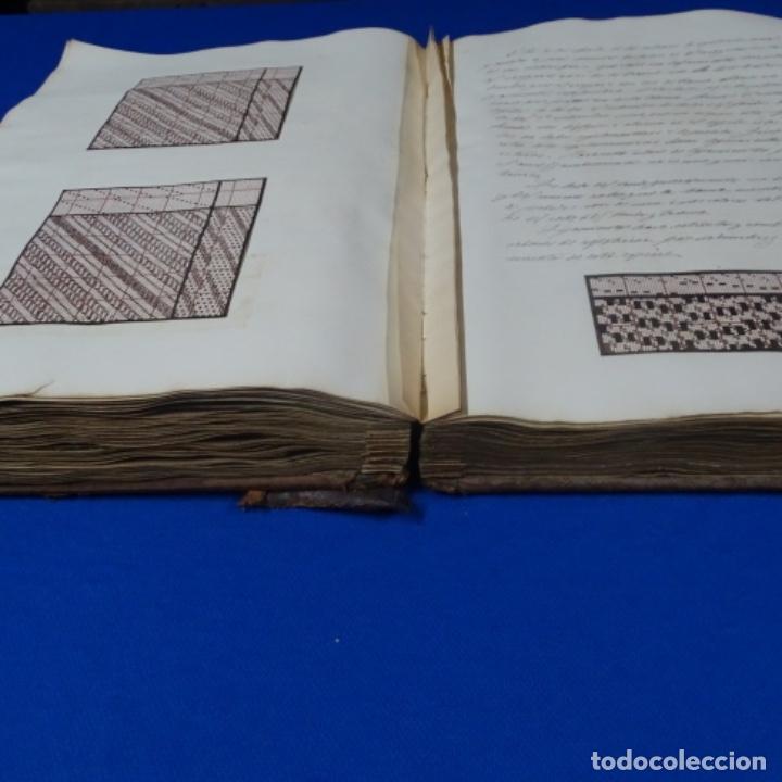 Manuscritos antiguos: Libro Manuscrito s.xix.teoria de los tejidos.obra excepcional de años de trabajo. - Foto 27 - 182331086