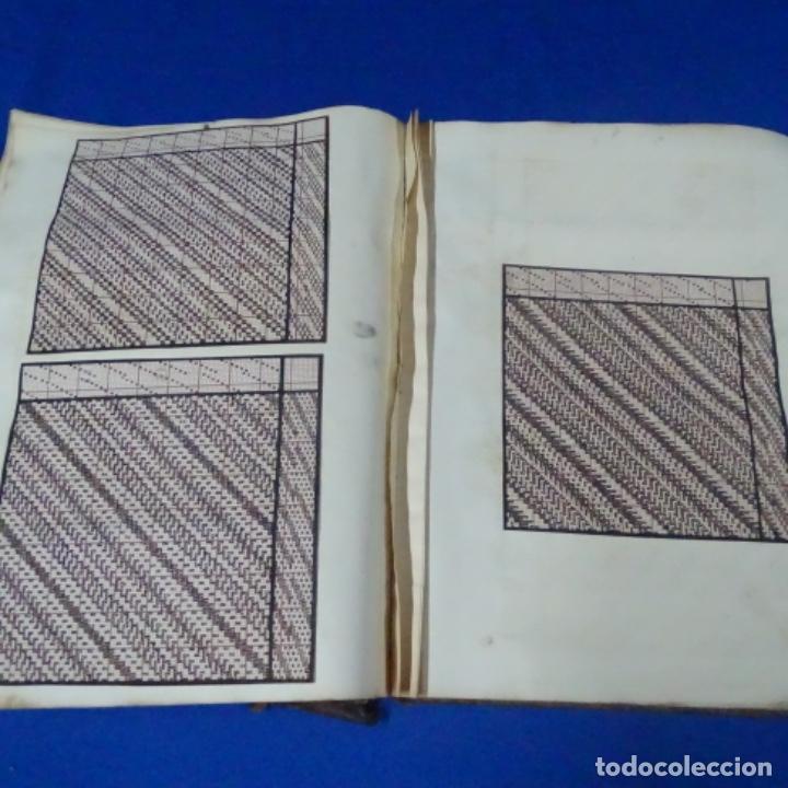 Manuscritos antiguos: Libro Manuscrito s.xix.teoria de los tejidos.obra excepcional de años de trabajo. - Foto 29 - 182331086