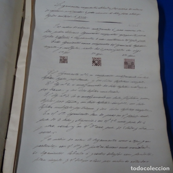 Manuscritos antiguos: Libro Manuscrito s.xix.teoria de los tejidos.obra excepcional de años de trabajo. - Foto 31 - 182331086