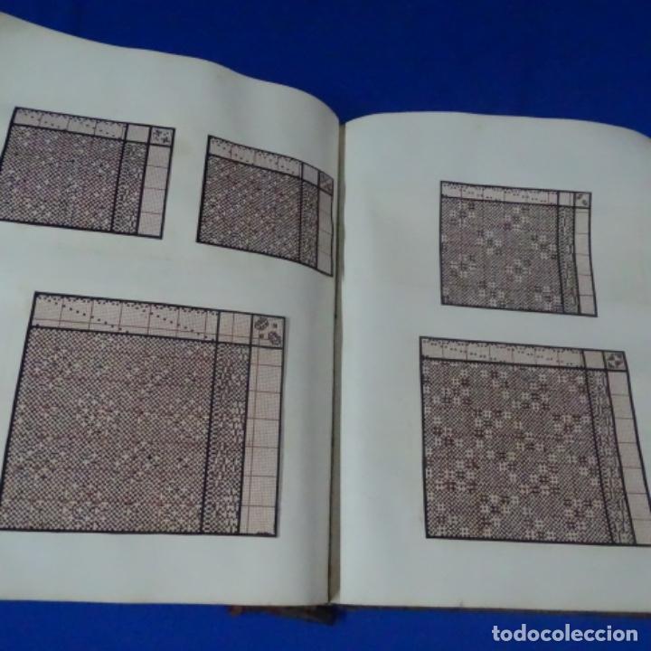 Manuscritos antiguos: Libro Manuscrito s.xix.teoria de los tejidos.obra excepcional de años de trabajo. - Foto 32 - 182331086