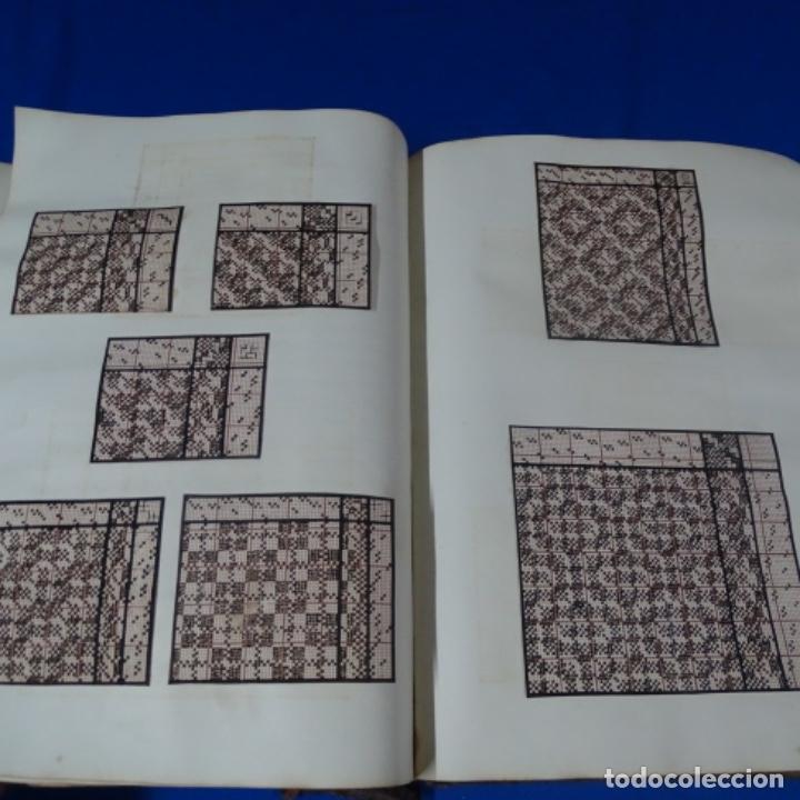 Manuscritos antiguos: Libro Manuscrito s.xix.teoria de los tejidos.obra excepcional de años de trabajo. - Foto 34 - 182331086