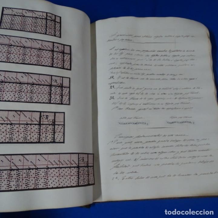 Manuscritos antiguos: Libro Manuscrito s.xix.teoria de los tejidos.obra excepcional de años de trabajo. - Foto 35 - 182331086