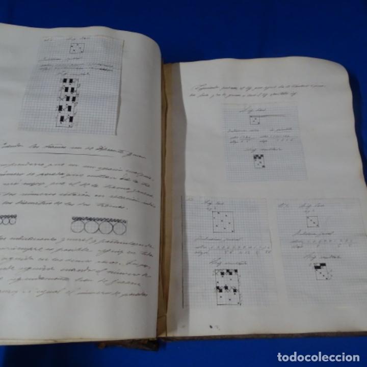 Manuscritos antiguos: Libro Manuscrito s.xix.teoria de los tejidos.obra excepcional de años de trabajo. - Foto 36 - 182331086