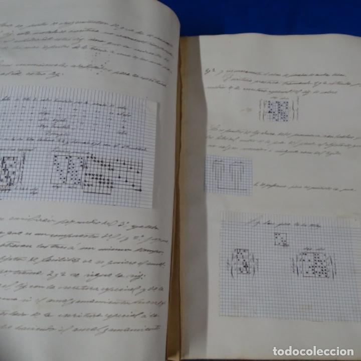 Manuscritos antiguos: Libro Manuscrito s.xix.teoria de los tejidos.obra excepcional de años de trabajo. - Foto 37 - 182331086