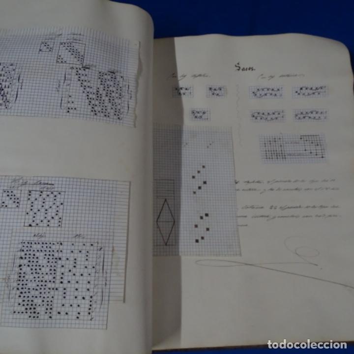 Manuscritos antiguos: Libro Manuscrito s.xix.teoria de los tejidos.obra excepcional de años de trabajo. - Foto 38 - 182331086