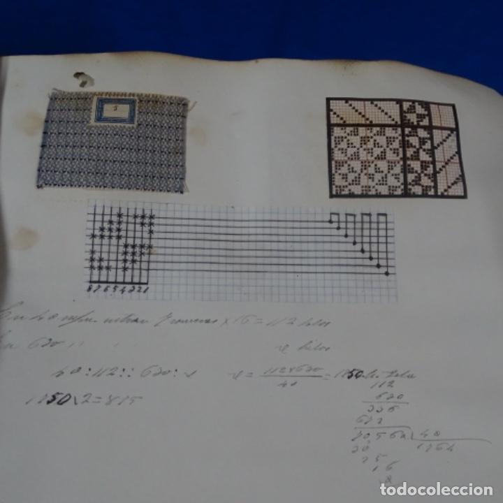 Manuscritos antiguos: Libro Manuscrito s.xix.teoria de los tejidos.obra excepcional de años de trabajo. - Foto 40 - 182331086