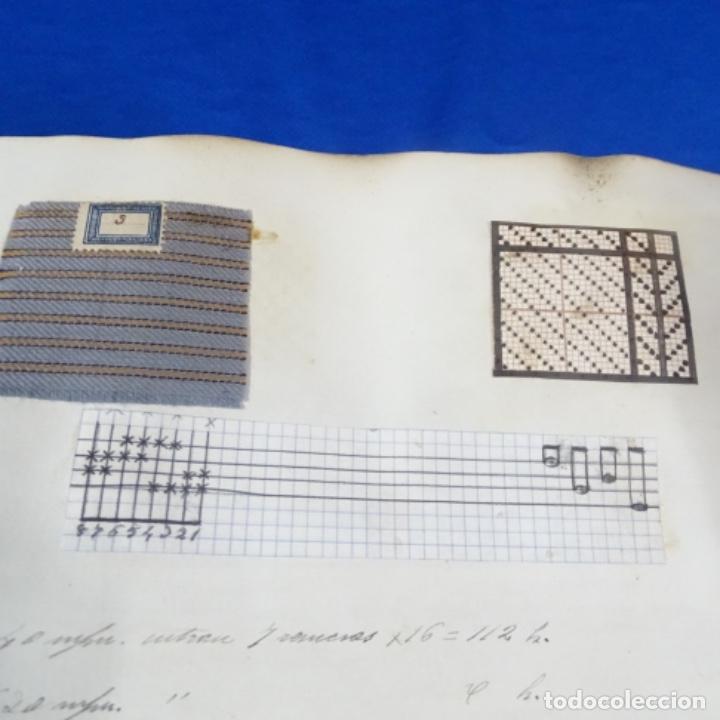 Manuscritos antiguos: Libro Manuscrito s.xix.teoria de los tejidos.obra excepcional de años de trabajo. - Foto 41 - 182331086