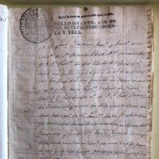 Manuscritos antiguos: GRANADA- MANUSCRITO 22 FOLIOS- SELLOS 1.793 CARLOS IV- TIMBROLOGIA- POBRES DE SOLEMNIDAD- RARO. Lote 182386190