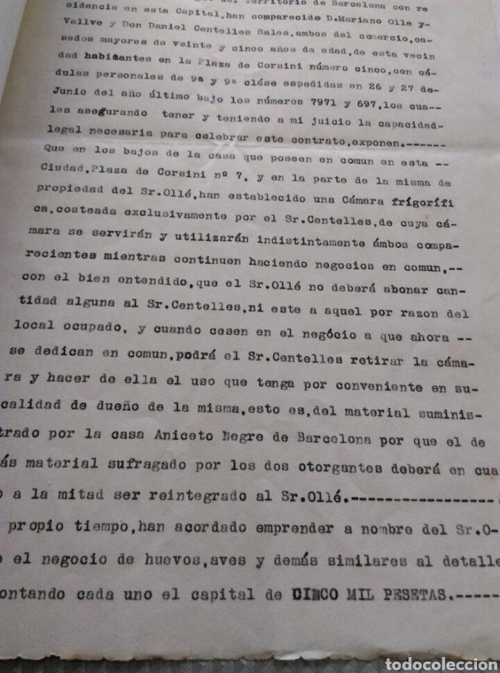 Manuscritos antiguos: Manuscrito Notaria Gramunt y Fuer archivo general de protocolos Tarragona convenio 1923 - Foto 2 - 182474417