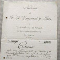 Manuscritos antiguos: MANUSCRITO NOTARIA GRAMUNT Y FUER ARCHIVO GENERAL DE PROTOCOLOS TARRAGONA CONVENIO 1923. Lote 182474417