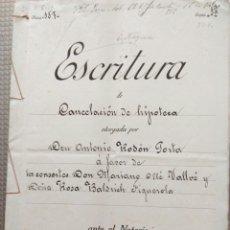 Manuscritos antiguos: ANTIGUO DOCUMENTO MANUSCRITO ESCRITURA VALLS TARRAGONA 23 ABRIL 1919 JOAQUIN FREIXAS Y MARTORELL. Lote 182478326
