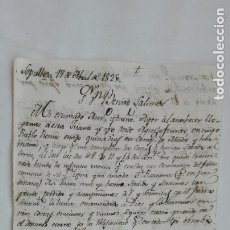 Manuscritos antiguos: CARTA MANUSCRITA . SEPÚLVEDA, 1829 . SIGLO XIX. Lote 182515906