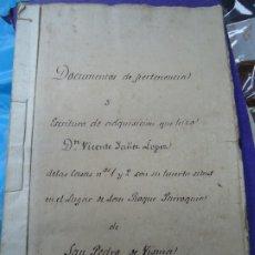 Manuscritos antiguos: 1839 MUY RARO LEGAJO DE DOCUMENTOS DE SAN PEDRO DE VISMA LA CORUÑA PRECIOSO LEGAJO DE DOCUMENTOS. Lote 182529832