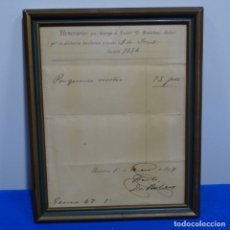 Manuscritos antiguos: RECIBO MANUSCRITO DEL DOCTOR BARTOMEU ROBERT 1897.. Lote 182544281