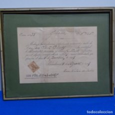 Manuscritos antiguos: RECIBO MANUSCRITO JOSE FONT PINOS.1909. Lote 182544441