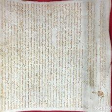 Manuscritos antiguos: MANUSCRITO EN PERGAMINO DEL 1630 - LATÍN / MALLORQUÍN ANTIGUO - MALLORCA . Lote 182597571