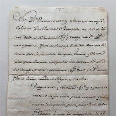 Manuscritos antiguos: MANUSCRITO DE D.PATRICIO MARTÍNEZ DE BUSTOS, COMISARIO GRAL. STA CRUZADA. AÑO 1794. MADRID - CÓRDOBA. Lote 182643065