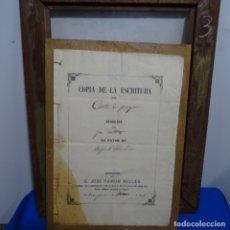 Manuscritos antiguos: ESCRITURA DE 1864 JOSÉ RAMON BELLES.ALCALA DE CHIVERT(VALENCIA). Lote 182643346
