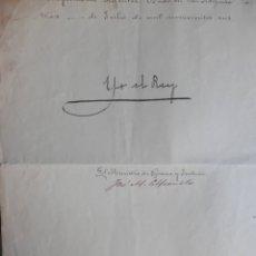 Manuscritos antiguos: FIRMA REY ALFONSO XIII MANUSCRITO AÑO 1906 NOMBRAMIENTO RELATOR AUDIENCIA PAMPLONA. Lote 182727138