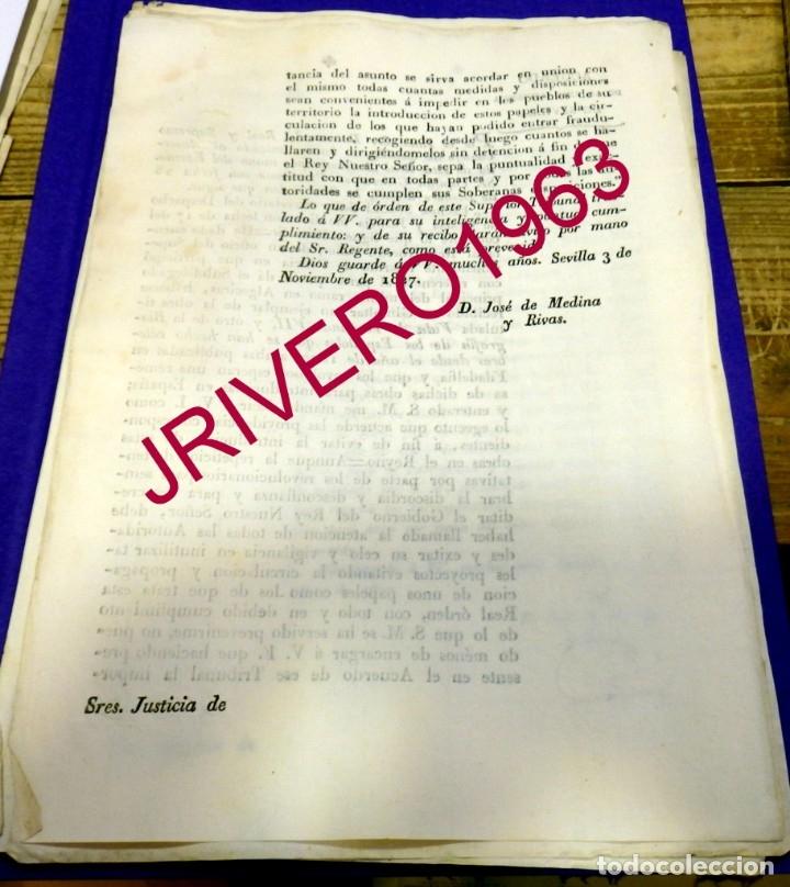 Manuscritos antiguos: 1827, CENSURA, PROHIBICION ENTRADA LIBRO POR GIBRALTAR SOBRE FERNANDO VII, MUY RARO - Foto 2 - 182894001