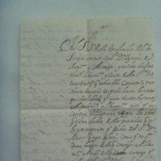 Manuscritos antiguos: CARTA MANUSCRITA ESCRITA DEL SIGLO XIX. Lote 182951826