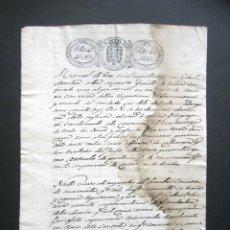 Manuscritos antiguos: AÑO 1833. SANTA EULALIA DE MONDARIZ. PONTEVEDRA. PLEITO FRAUDE POR VENDER VINO. PARROQUIA SISA. Lote 183001357