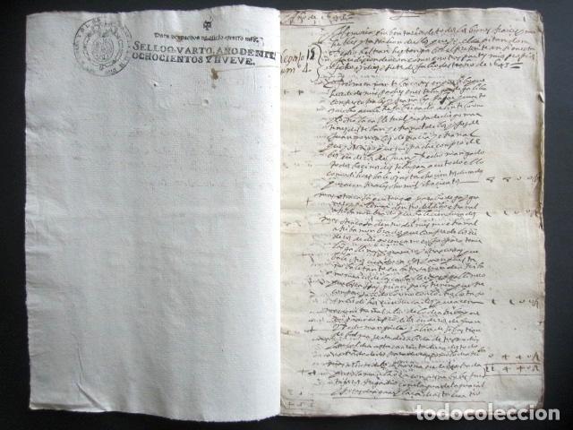 AÑO 1643. OCÓN. LOGROÑO. MEMORIA E INVENTARIO DE BIENES, RAÍCES, MUEBLES Y VIÑAS DE CAPITÁN BELTRÁN. (Coleccionismo - Documentos - Manuscritos)