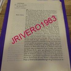 Manuscritos antiguos: 1829, FERNANDO VII, REAL CEDULA PARA QUE SE CASTIGUEN LOS MATRIMONIOS SEPARADOS ,4 PAGINAS. Lote 183006316