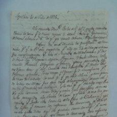 Manuscritos antiguos: CARTA MANUSCRITA ESCRITA EN SEPULVEDA EN 1825 , SIGLO XIX. Lote 183014310