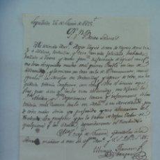 Manuscritos antiguos: CARTA MANUSCRITA ESCRITA EN SEPULVEDA EN 1825 , SIGLO XIX. Lote 183023198