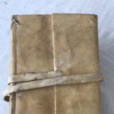 Manuscritos antiguos: LIBRO PERGAMINO MANUSCRITO FINALES DEL XVIII BARCELONA I GUERRA CARLISTA. BIEN CONSERVADO. . Lote 183290682