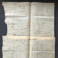 Manuscritos antiguos: IMPORTANTES PLANOS Y DOCUMENTACIÓN DEL PLAN CERDA PZ. CATALUÑA. . BCN RIUS Y TAULELL 1867.. Lote 183292636