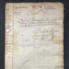 Manuscritos antiguos: MANUSCRITO ECONOMÍA ARÉVALO 1620. IMPUESTO MONEDA FORERA JUEZ BARTOLOME NIETO. Lote 183294171