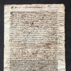 Manuscritos antiguos: CARTA DE VENTA. SIGLO XVI. PALEOGRAFÍA. EN CASTELLANO. EN GÓTICO.. Lote 183296572