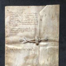 Manuscritos antiguos: IMPORTANTE DOCUMENTO MANUSCRITO SIGLO XVI.(HACIA 1530). BURGOS CON LAS TAPAS EN PERGAMINO.. Lote 183297086