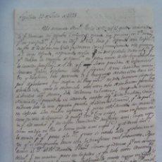 Manuscritos antiguos: CARTA MANUSCRITA ESCRITA EN SEPULVEDA EN 1825 , SIGLO XIX. Lote 183331251