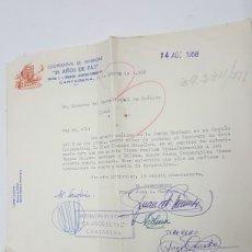 Manuscritos antiguos: CARTA COOPERATIVA VIVIENDAS 25 AÑOS DE PAZ CARTAGENA AÑO 1968. Lote 183434038