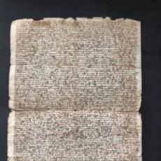 Manuscritos antiguos: CARTA DE TRUEQUE DE UNAS TIERRAS. TÉRMINO DE SIMANCAS. VALLADOLID. AÑO 1461. PALEOGRAFÍA. Lote 183446277