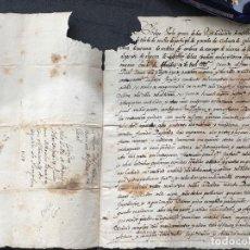 Manuscritos antiguos: MANUSCRITO PLEITO , COMISION ORDINARIA DE LA CORTE , CONVENTO DE SAN AGUSTIN , AÑO 1587. Lote 183448057