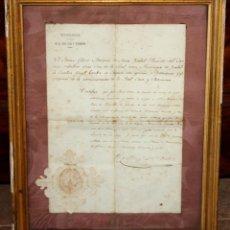Manuscritos antiguos: ORDEN REAL - 1854 - LACTANCIA PRINCESA DE ASTURIAS - INTENDENCIA GENERAL REAL CASA Y PATRIMONIO.. Lote 183597665