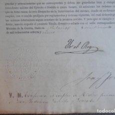 Manuscritos antiguos: FIRMA REY ALFONSO XII MANUSCRITO AÑO 1875 NOMBRAMIENTO MÉDICO 1º ULTRAMAR. Lote 182726927