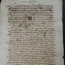 Manuscritos antiguos: FEREZ ALBACETE, ESCRITURA MANUSCRITA DE 1589. Lote 183721225
