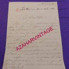 Manuscritos antiguos: BETANZOS, 1865, CARTA MANUSCRITA. Lote 183797770
