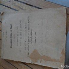 Manuscritos antiguos: DOCUMENTO ÚNICO Y ORIGINAL DE FINALES DEL SIGLO XIX.FERROCARRIL CENTRAL DE ARAGÓN.PLANO PARCELARIO. Lote 183826378