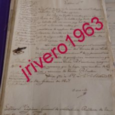 Manuscritos antiguos: 1807, CIRCULAR PROHIBICION BAILES DE MASCARAS EN TODO EL TERRITORIO, MENOS CATALUÑA, UNA JOYA. Lote 183829146